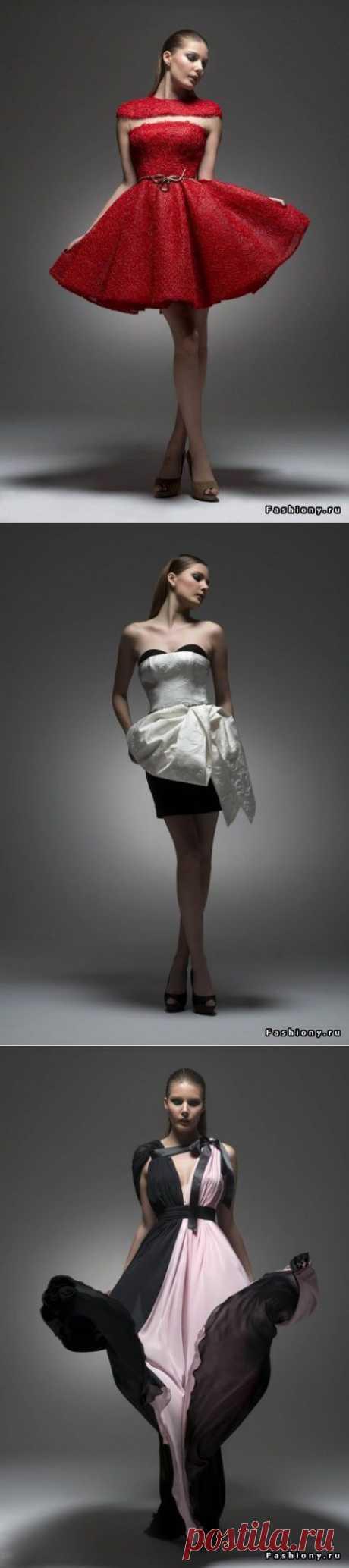 Необычные платья от Isabel Sanchis Haute Couture Осень-Зима 2014-2015.