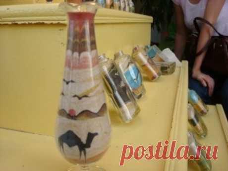 Картины песком в бутылке: мастер-класс
