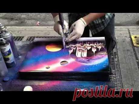 (+1) тема - Техника быстрого рисования «spray paint art» (видео) | Искусство
