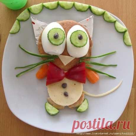 Идеи украшения детских блюд — Поделки с детьми
