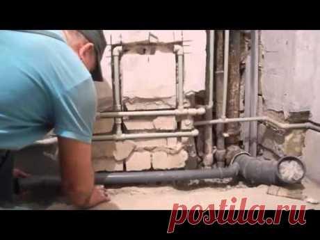 Как самому собрать канализационные трубы и спрятать их в стены