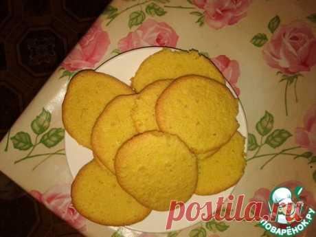 Кукурузное печенье с имбирем - кулинарный рецепт