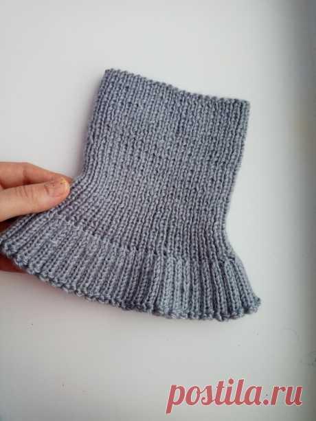 История одной манишки спицами. Необычный эластичный край)))   Lady knits   Яндекс Дзен