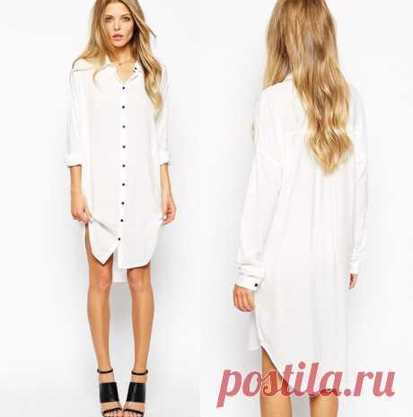 Платье рубашка выкройка немного большемерит Размеры 36-44 (евро) https://vk.com/wall-135287543_11587