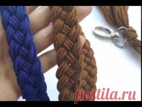 Cara Membuat Tali Tas Rajut Kepang (How To Make Braided Bag Strap) Tali tas ini sangat cocok untuk tas rajut. This bag strap is very suitable for crocheted/knitted bag.