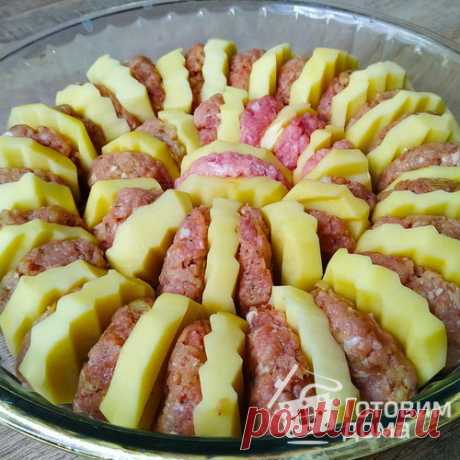 """Картофель с фаршем """"Праздничный"""" - пошаговый рецепт с фото на Готовим дома"""