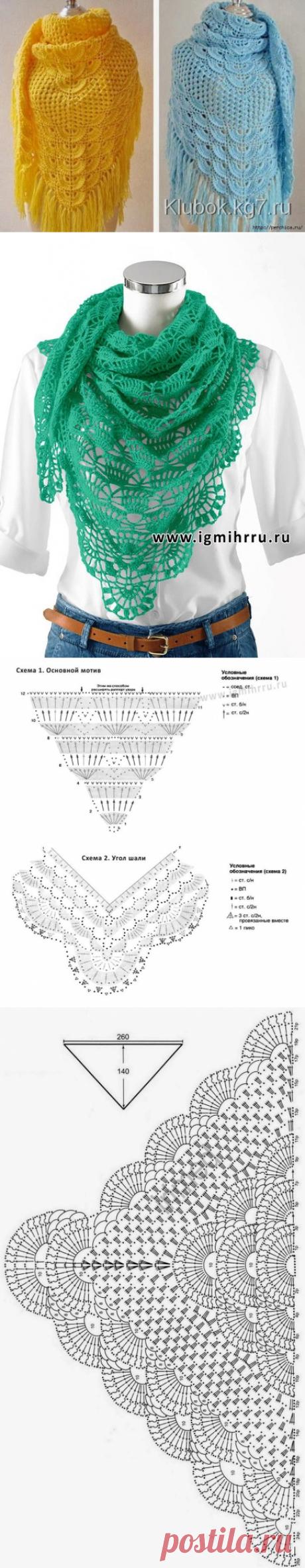 Самые красивые шали со схемами — Сделай сам, идеи для творчества - DIY Ideas