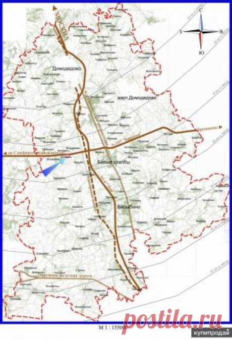 Участок под склад или производство 30 км от МКАД Домодедово купить в Домодедово на UniBO.ru (ID#5807089)