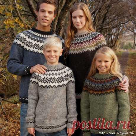 Потрясающие жаккардовые пуловеры, вязанные спицами!
