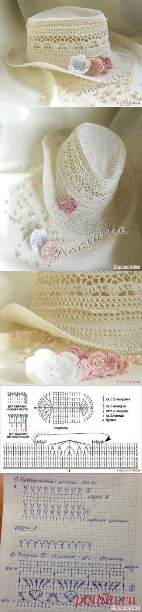 Ажурная шляпка Ванесса