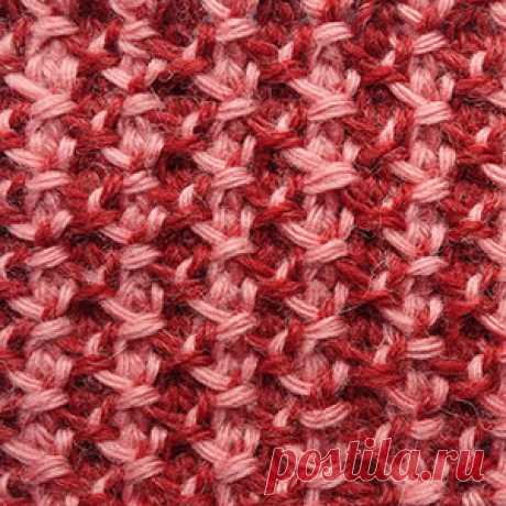 """We begin to knit – Video knitting lessons\"""" \""""Jacquard from front and back loops\"""" – the Tunisian knitting – UzorNo. 9"""