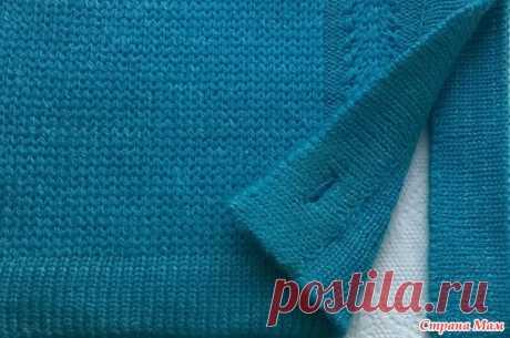 Кеттлевка полочек изделия поперечной бейкой с петлями - Машинное вязание - Страна Мам