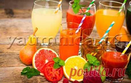 Свежевыжатый сок: польза, вред, приготовление, рецепты