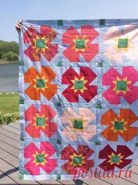 Summer Garden Quilt Pattern – Running Stitch Quilts