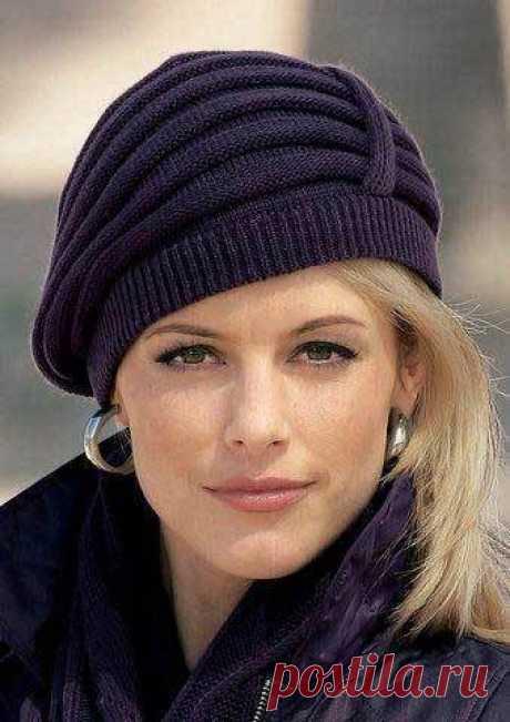 Элегантная вязаная шапочка из категории Интересные идеи – Вязаные идеи, идеи для вязания