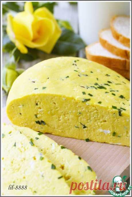 Домашний сыр с зеленым луком и тмином – кулинарный рецепт