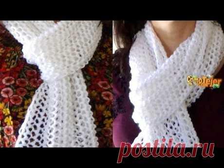 Вязание спицами. Схема 21. Ажурный узор с ромбами  ////   Knitting. Scheme. openwork pattern - YouTube