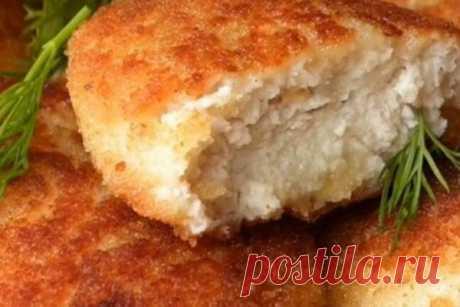 Котлеты из куриного фарша с картофелем