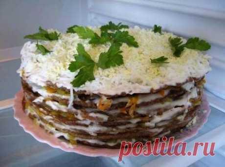 Рецепты приготовления печеночного торта