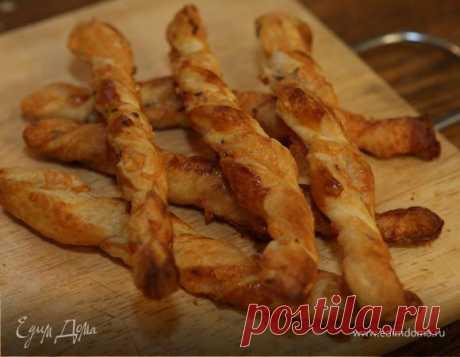 Рецепт с видео: слоеные палочки с сыром и тмином