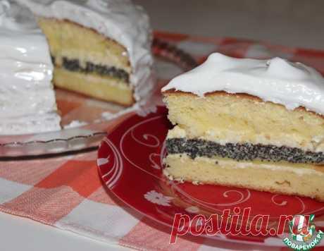 Маково-лимонный торт с творожным кремом – кулинарный рецепт