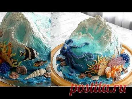 УКРАШЕНИЕ ТОРТОВ, МОРСКОЙ ТОРТ от SWEET BEAUTY СЛАДКАЯ КРАСОТА, SEA CAKE DECORATION