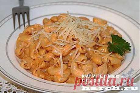 Макароны в сырном соусе | Харч.ру - рецепты для любителей вкусно поесть