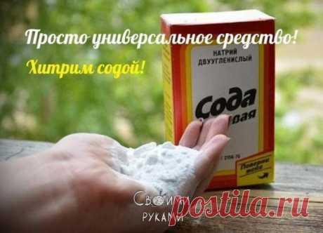 Всем быстренько на кухню, за содой!))) Просто универсальное средство! Экономит немало денег!)))