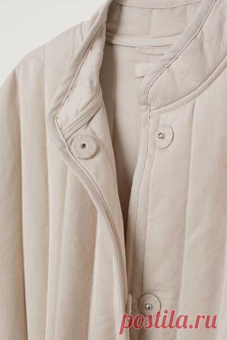 Стеганая куртка - Cветло-бежевый - Женщины | H&M RU