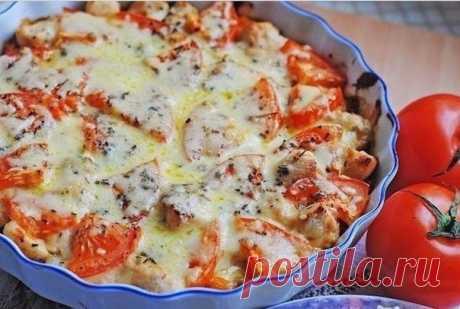 Запеканка с куриным филе и помидорами [ Рецепт ] - Рецепты | Доброхаб