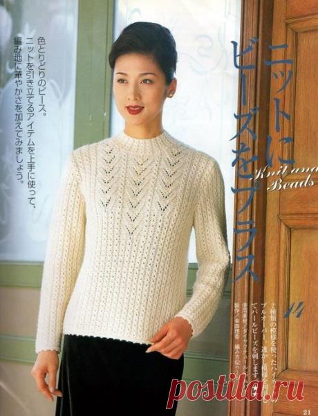 Пуловеры спицами (описание и схемы)   Вяжем интересные проекты   Яндекс Дзен