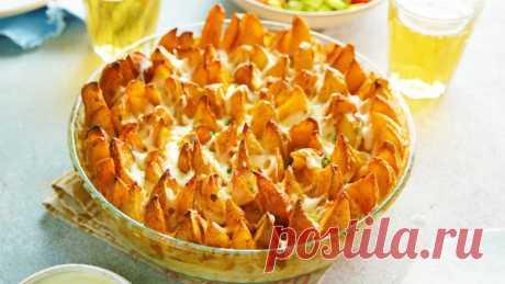 Картофель по-деревенски с сыром в духовке