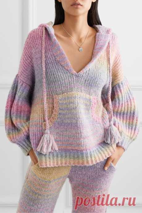 Оригинальные разноцветные свитера крупной вязки Оригинальные веселые идеи творческого вдохновения