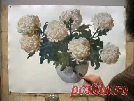 Сергей Андрияка - Рисуем Белые Хризантемы