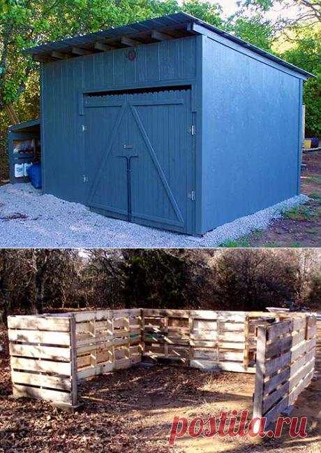 Строим сарай из поддонов на даче | Мой Милый Дом — идеи рукоделия, вязание, декорирование интерьеров