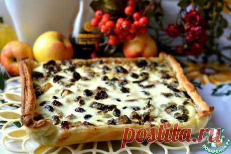 Пирог-тарт с куриной печенью Кулинарный рецепт