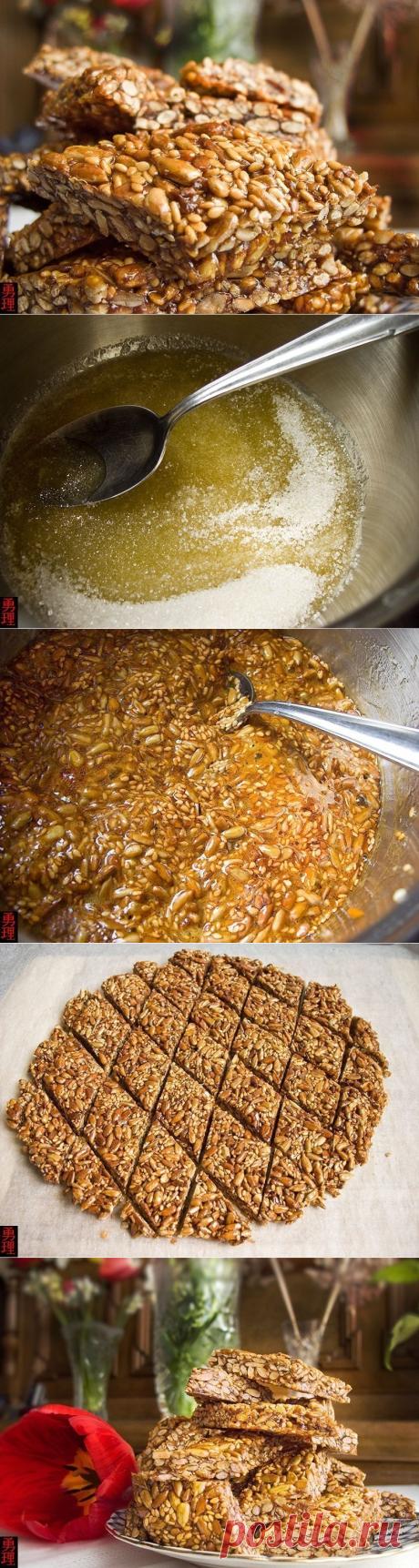 Как приготовить козинаки с семечками и кунжутом - рецепт, ингредиенты и фотографии