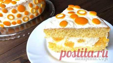 """Торт """"Апельсиновый рай"""" Очень вкусный, яркий тортик!"""