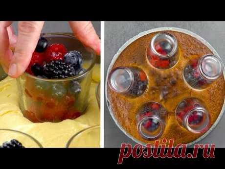 Простой трюк с пустыми стаканами придает торту потрясающий вид