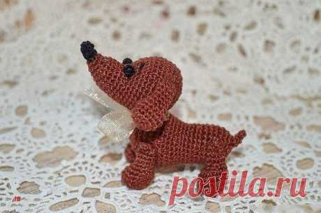 Крошка-собачка, вяжем милую игрушку