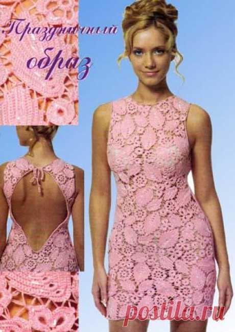 Платье розовое – Мир вязания и рукоделия