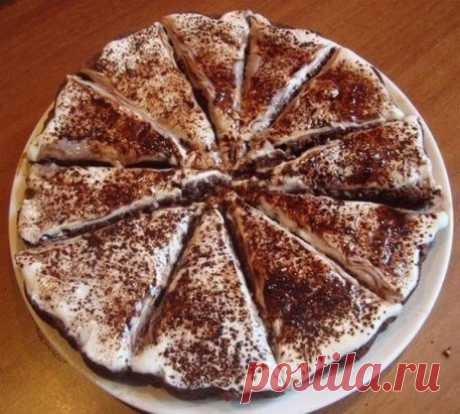 """Easy cake \""""Melts in the Mouth\"""" Ingredients Kefir (250 ml) — 1 stak. Soda (without hill, it is not necessary to extinguish) — 1 h l. Sugar (is possible less) — 1 stak. Flour (250 ml) — 1 stak. Cocoa powder — 2 tablespoons. The cake easily and simply becomes! First of all we include to be heated an oven by 200 degrees. We take two capacities. In the first we pour kefir + soda (it is not necessary to extinguish, it will make kefir). In the second - sugar, flour and cocoa. To mix kefir with soda. To mix dry ingredients. We mix the first mix with the second - it turns out average"""