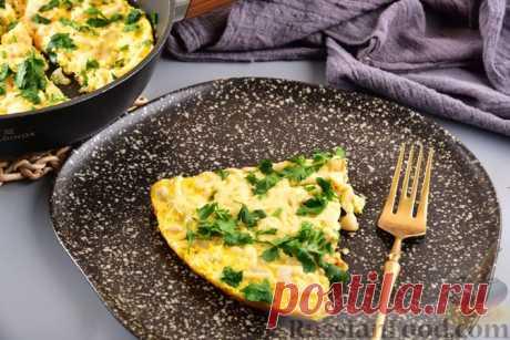 Омлет с фасолью, овощами и сыром Вкусный и сытный омлет с фасолью и овощами. Такой несложный, но оригинальный вариант привычного омлета с молоком приятно разнообразит меню. А если ещё и