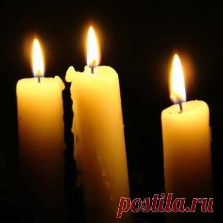 Как горит свеча? Значение