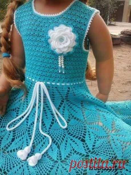 Платье для девочки. Крючок. Автор: Наталья Кулик