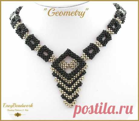 Beading Tutorial Geometry Necklace only | Etsy