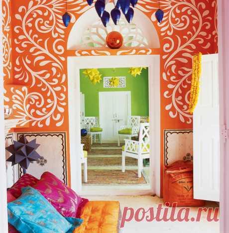 Орнамент на стенах: 28 идей для оформления комнат   Практика на www.elle.ru