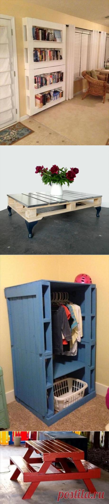 Идеи использования паллет в качестве мебели