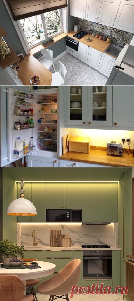 9 практичных идей для маленькой кухни, которые заставят забыть о ее размере