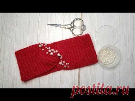 Как пришить бусины на вязаное изделие